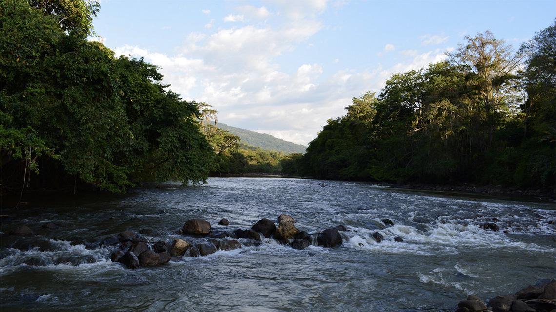 Raften in de rivier van San Gil