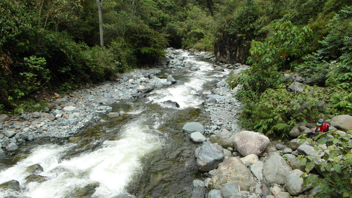 Pance rivier nabij Cali Colombia