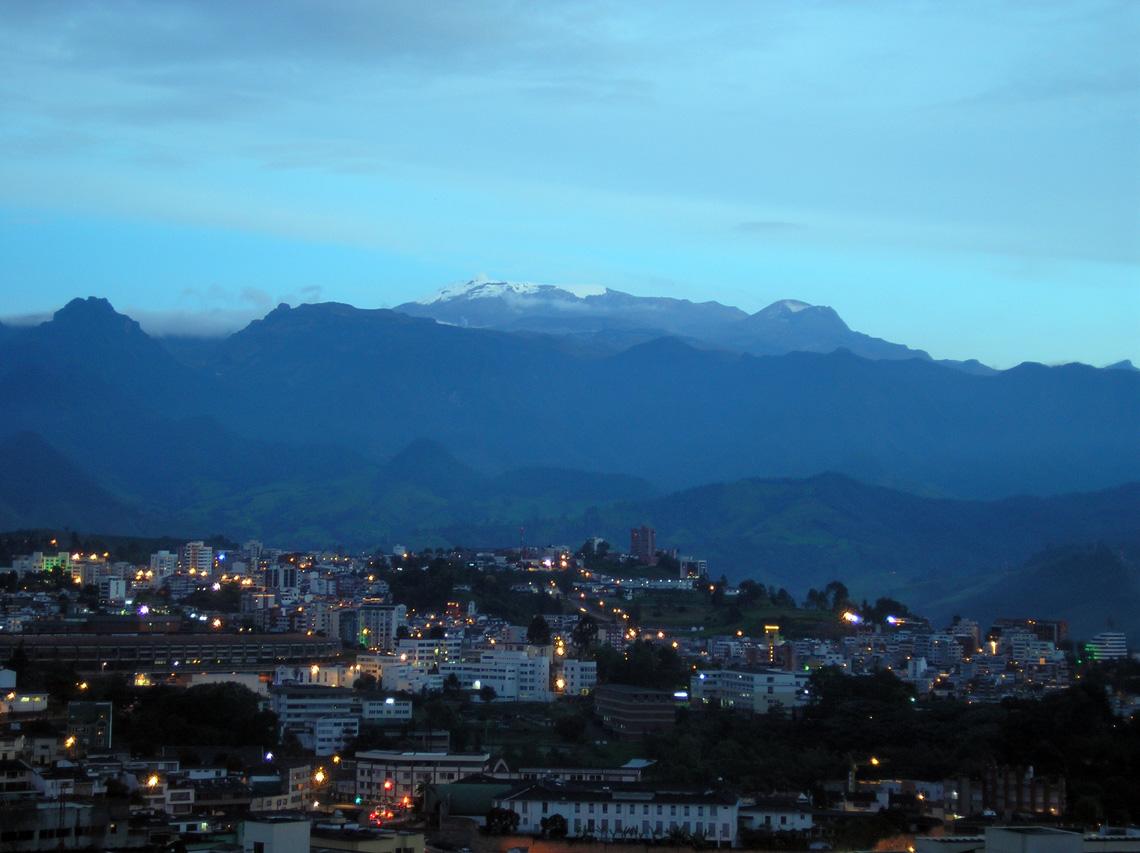 Manizales uitzicht skyline
