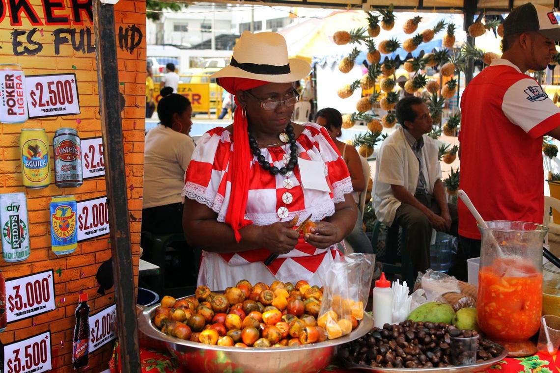 Streetfood tijdens Feria de Cali