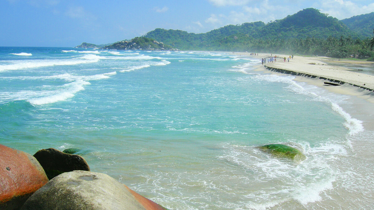 National Park Tayrona strand